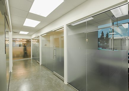 Large Glass office sliding doors